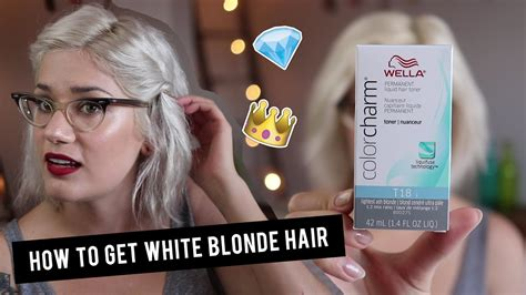 How To Get White Blonde Hair With Wella T18 Toner Btwsam