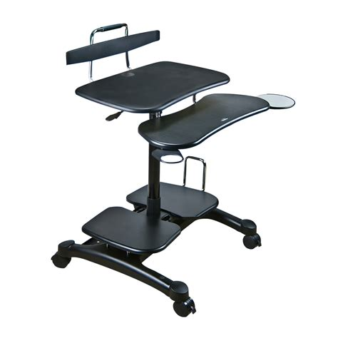 Ergo Stand Up Desk by Ergonomic Sit Stand Computer Desk