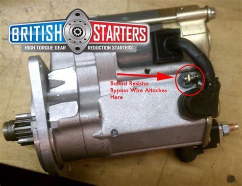 196 Mga Wiring Diagram mgb high torque starter classic car performance