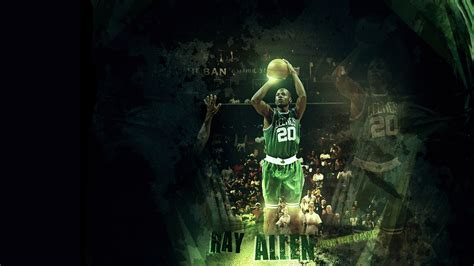 full hd wallpaper walter ray allen basketball abstraction