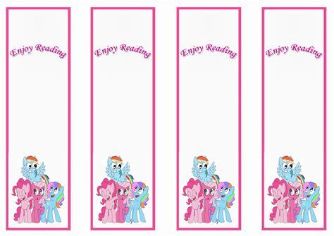 My Little Pony Bookmarks Birthday Printable