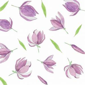 Watercolor pattern with purple flowers Vector | Free Download