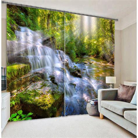 wonderful waterfall  stones  sunny printed