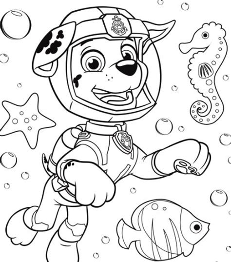 paw patrol tracker coloring page  coloring pages