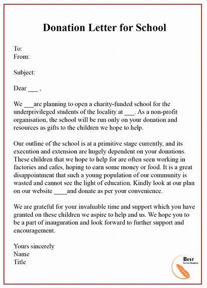 Letter Donation Sample Word Donations Template Example