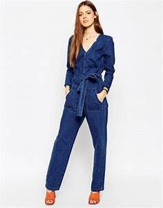 Combinaison Pantalon Femme Bleu Marine : combinaison femme denim combinaison pantalon femme marine pp615603 s6 produit ~ Dallasstarsshop.com Idées de Décoration
