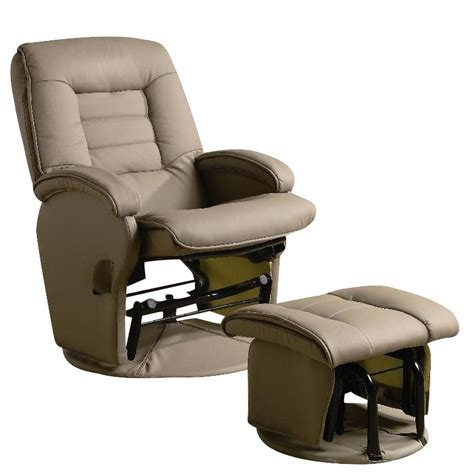 glider recliner with ottoman coaster recliners with ottomans glider chair with ottoman