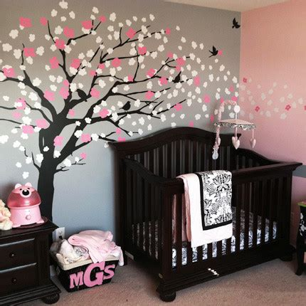 Tree Wall Decor For Nursery by Cherry Blossom Tree Style Wall Decal Modern
