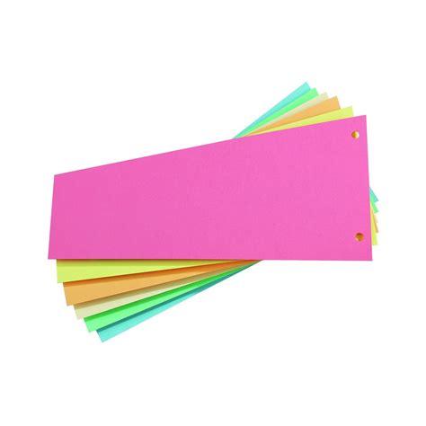 bureau bruneau intercalaire trapèze carte bristol neutre couleurs