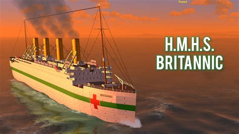 roblox rms olympic sinking h m h s britannic 1916 sailor wiki
