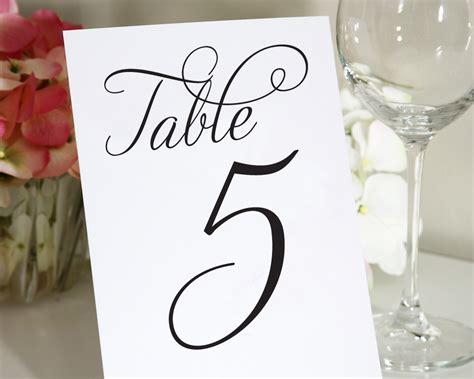images  wedding table numbers printable