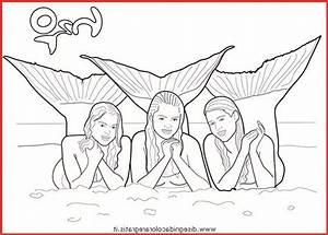 Ausmalbilder Kostenlos H2o Plötzlich Meerjungfrau - Rooms