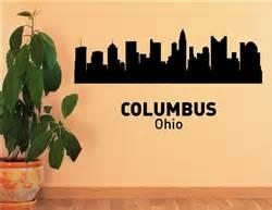 columbus ohio city skyline vinyl wall art decal sticker With vinyl lettering columbus ohio