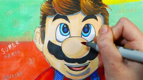 Speed Drawing Nintendo Switch Super Mario Odyssey 🍄 Youtube
