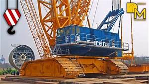 Giant Crawler Crane Terex Cc 9800 Sarens Erecting Wind
