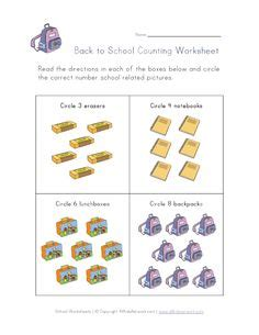 this back to school worksheet is designed for preschool