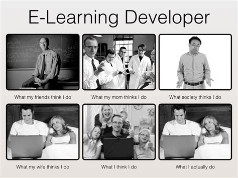 Learning Meme - what does an elearning developer do
