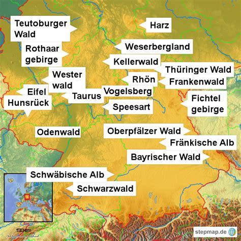 Gebirge Deutschland Karte