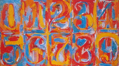 offset lithograph jasper johns