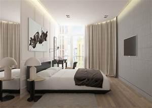 Vorhänge Grau Weiß : raumgestaltung ideen in grau 5 moderne appartements ~ Orissabook.com Haus und Dekorationen
