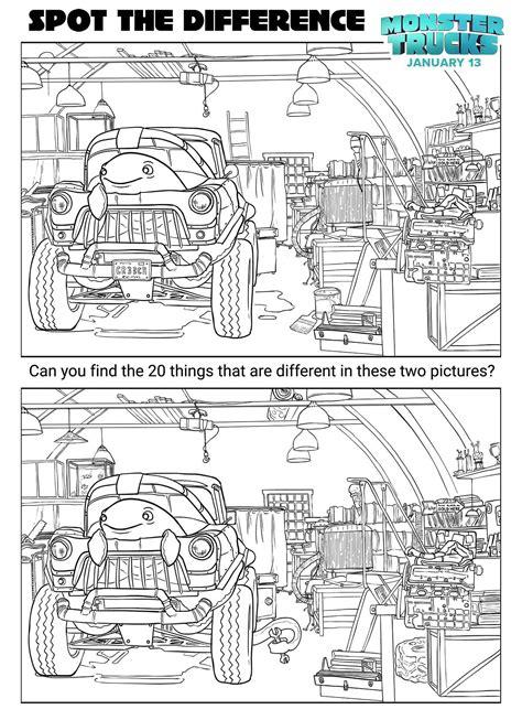 trucks printable coloring and activity sheets