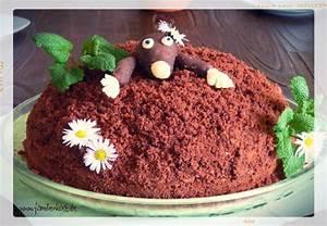 Maulwurfkuchen Rezept mit süßem Maulwurf aus Marzipan