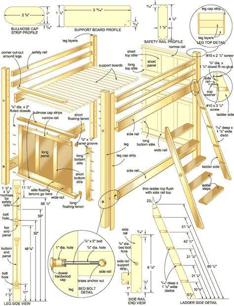 wood workfree bunk bed plans   build diy