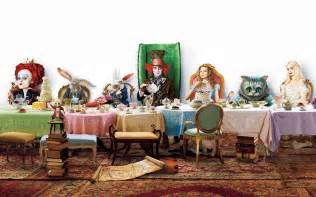 Mad Hatter Decorations by Alice In Wonderland At The Table Wallpapers And Images