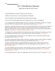 physics work power energy worksheet physics work