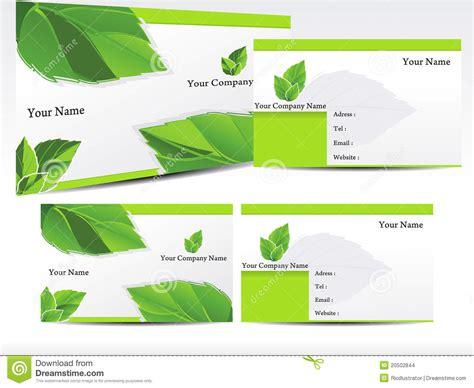 Abstract Green Leaf Business Card Stock Vector Business Plan Template Restaurant Uk Letter Format German Envato Card Templates For Bees Keeping Purchase Order Service Company