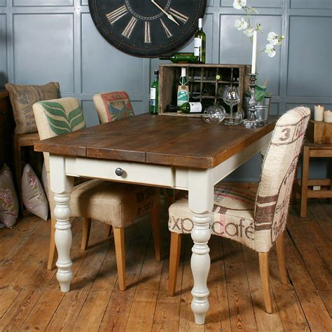 dessus de chaises solid wood vintage farmhouse table by h f