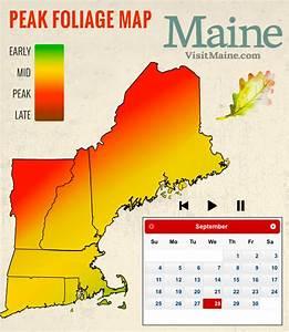 Peak Fall Foliage Map - New England Today