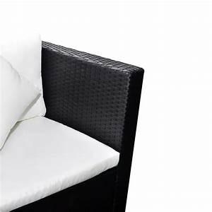 Polyrattan Lounge Set : vidaxl lounge set zwart poly rattan online kopen ~ Whattoseeinmadrid.com Haus und Dekorationen