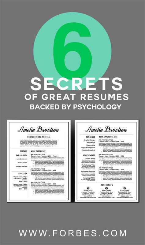 Secret Resumen by 6 Secrets Of Great Resumes Backed By Psychology Forgive