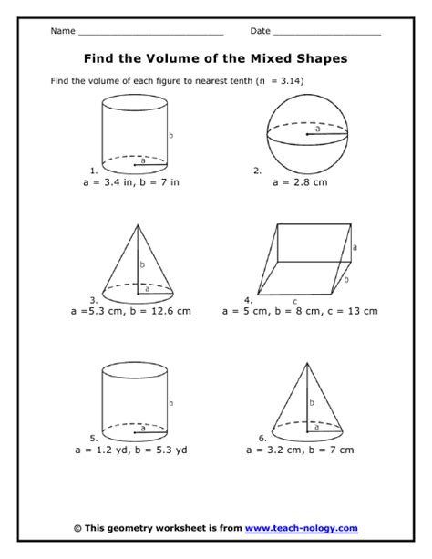 find  volume   mixed shapes
