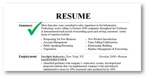qualifications summary resume examples resume summary examples