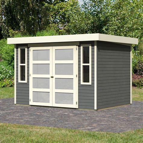 abri 224 toit plat 6 55m 178 en bois vitrifi 233 gris 19mm