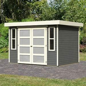 Abri De Jardin Toit Plat : abri toit plat en bois vitrifi gris 19mm ~ Dailycaller-alerts.com Idées de Décoration