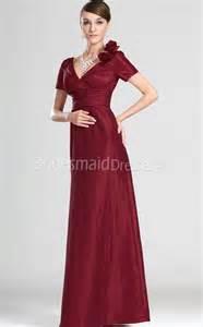 bridesmaid dresses in burgundy a line burgundy chiffon v neck floor length sleeve bridesmaid dresses ukbd03 543