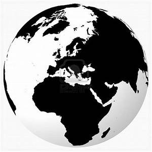 Globe Black And White Outline | www.imgkid.com - The Image ...
