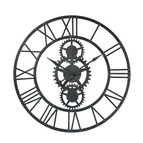 pendule cuisine originale horloge en métal d 100 cm temps modernes maisons
