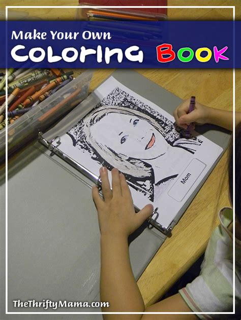 Make Your Own Coloring Book For Free!  Natural Thrifty
