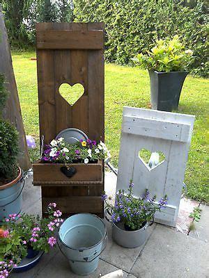 Holzarbeiten Für Den Garten by Shabby Fensterladen Herz Blumenkasten Garten Deko Holz