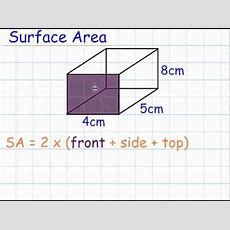 Surface Area Of Cuboids (gcse Mathematics Shape) Youtube
