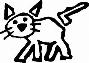 Cartoon Black And White Cat - Cliparts.co