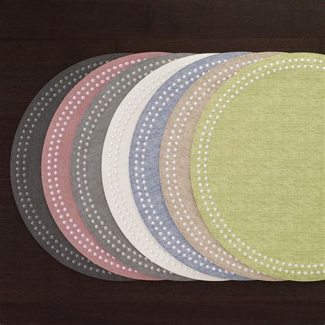 bodrum helix white silver set   easy care  placemats  cm