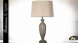 Abat Jour Salon : lampe de salon bois sculpt finition bronze antique abat jour cru int rieurs styles ~ Teatrodelosmanantiales.com Idées de Décoration