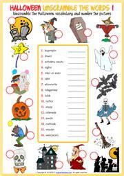 halloween esl vocabulary worksheets