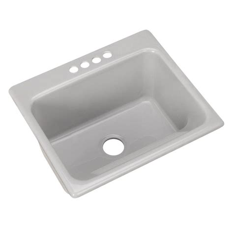 thermocast sink home depot thermocast kensington drop in acrylic 25 in 4 single