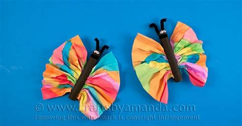 watercolor butterfly craft  kids